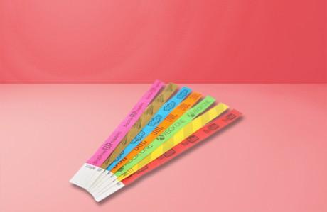 500 צמידי נייר מודפסים